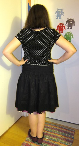 Finished: My Reversible Shirred Skirt! (Back View)