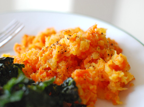 Coarsely Mashed Carrot and Rutabaga