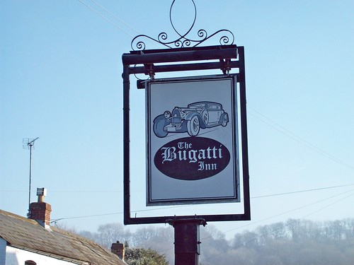77 Bugatti Inn (sign), Gretton Glouc.