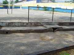 Where Jamaican school athletes do step exercises (bbcworldservice) Tags: world school girls boys athletics downtown assignment champs christopher coke lord kingston bbc jamaica drug service 2010 dudus