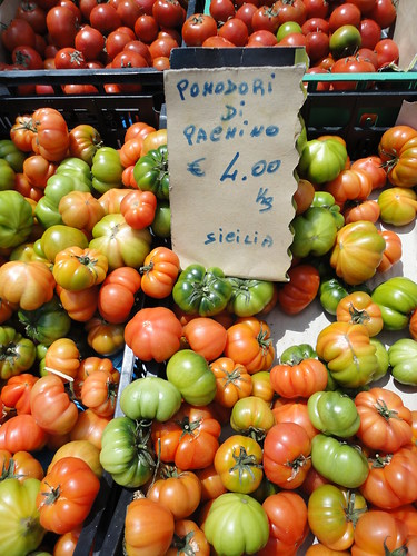 Cutest little heirloom tomatoes at the market