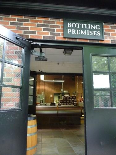 peeking inside the bottling room.