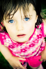 (ste.parsons) Tags: pink summer portrait flower girl face look child blueeyes lightroom