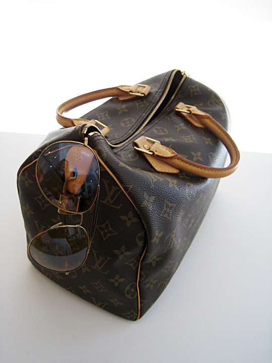 louis vuitton bag+gucci aviator sunglasses