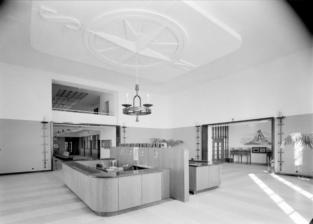 Interior da aerogare da Portela (H.Novais, 1942)