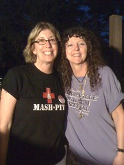 GoGirls Founder Madalyn Sklar with Kerrville Folk Festival Director Dalis Allen. KFF