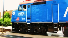 "Metra late 1970's era EMD F-40PH locomotive ""Will County"" departing Northbrook Illinois. Wednsday, May 26th  2010."