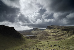The Quiraing (Isle of Skye) (gregor H) Tags: rain clouds landscape geotagged scotland highlands isleofskye explore frontpage gettyimages gbr flodigarry thequiraing eileanacheo grosbritannien geo:lat=5763322062 geo:lon=628370903