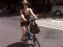 Erin on the DaBike :) (SnoKoan) Tags: nyc bike bicycle folding dahon dabike