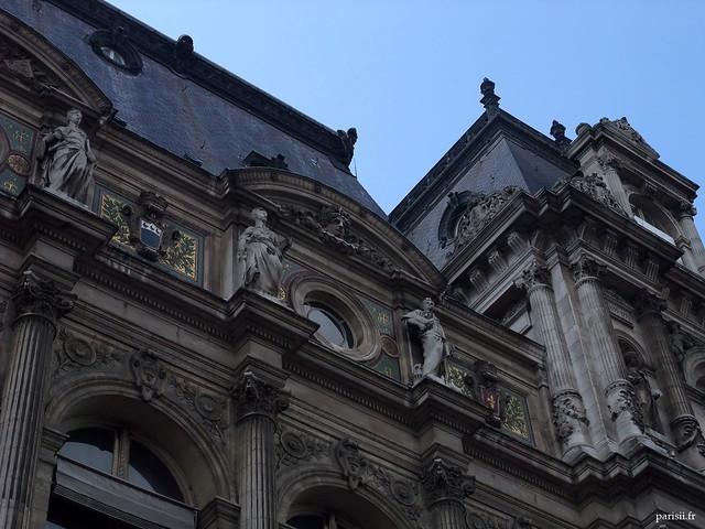 Détails architecturaux de l'Hôtel de Ville
