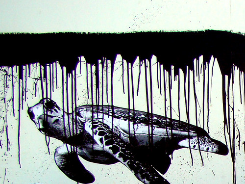 Sea Turtle + Oil Spill by tsand.