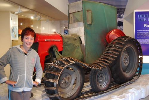 Tractor used in the Antarctic