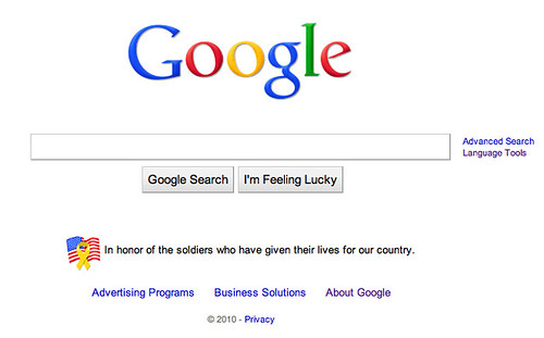 Google Memorial Day Badge
