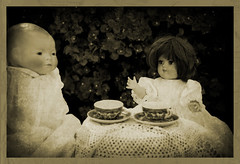 Afternoon Tea (MissMae) Tags: party childhood toys backyard dolls play tea lace week23 tonidoll 525of2010 savagephotography themetoygamechildhoodpastime bilodoll teascups