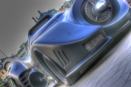 Smooth Blue Batmobile