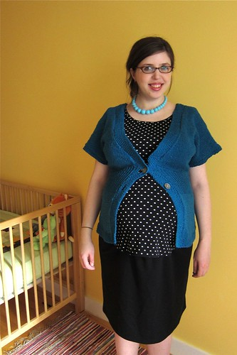 Finished: My Teal Flutter-Sleeve Cardigan