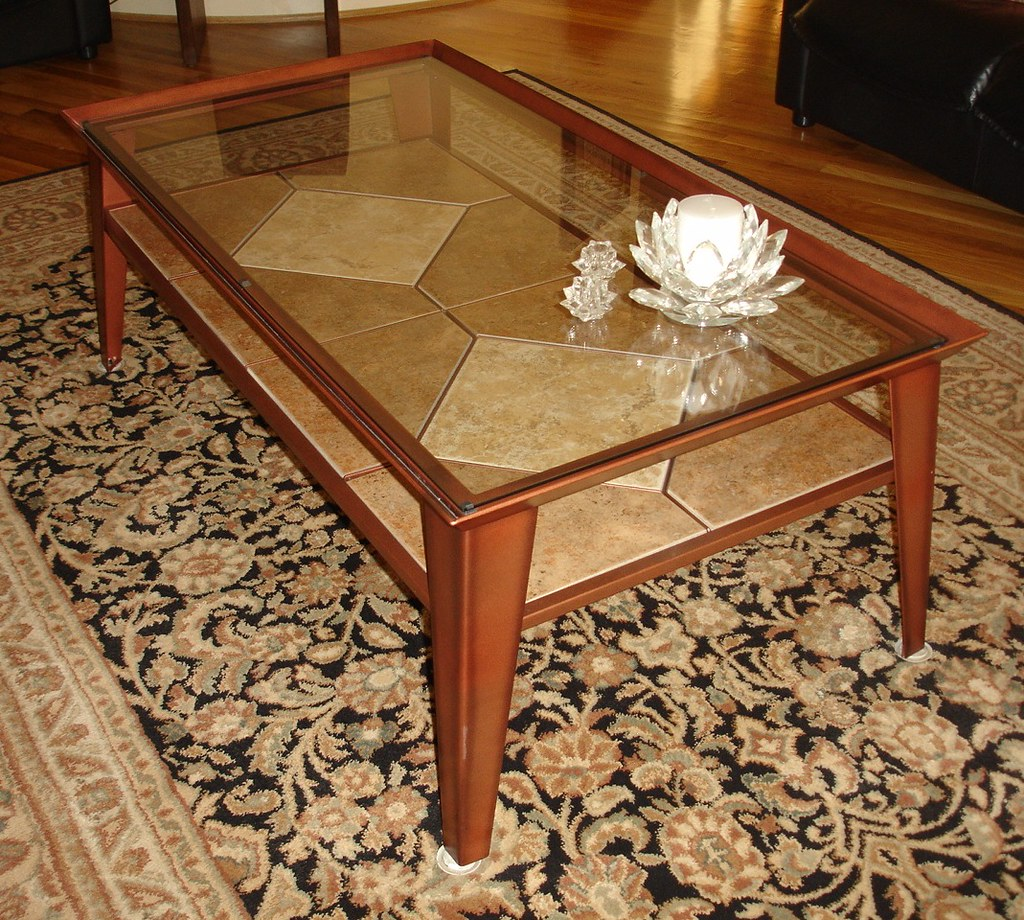 Coffee Table & 2 end tables in  brushed copper finish