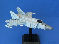 High, fast flyer! (-Mainman-) Tags: fighter lego russia aircraft military ussr 2010 interceptor gurevich mikoyan mig25 foxbat foitsop 3jun10