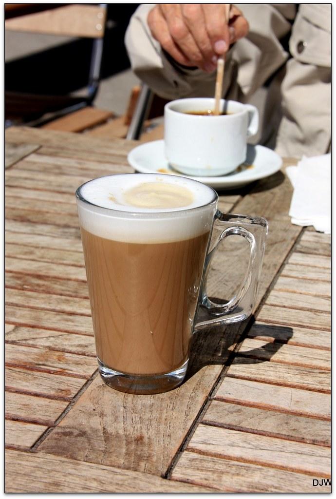 Small Latte & a Black Coffee
