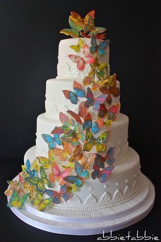 Butterfly Wedding Cake .....