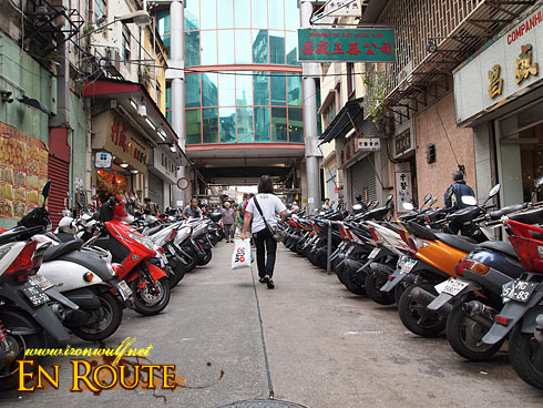 Macau Old Town Motorcycle Alley