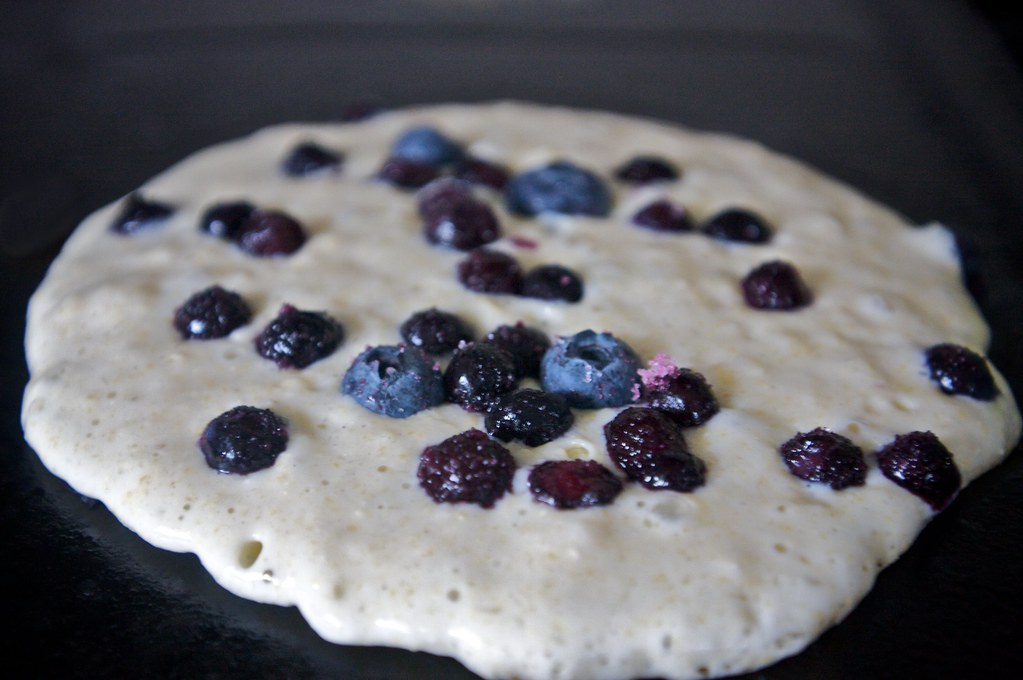 Blueberry Cornmeal Pancakes with Orange Maple Butter - Shutterbean