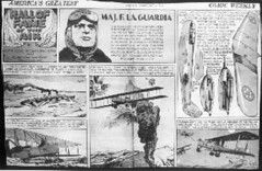 A newspaper comic strip published on February 26. 1939, that highlighted Mayor Fiorello La Guardia's aviation career as a bomber pilot and trainer in Italy during World War I (while he was a Representative in Congress). (La Guardia and Wagner Archives) Tags: comics aviation wwi laguardia worldwar fiorellolaguardia fiorello thelittleflower mayorlaguardia