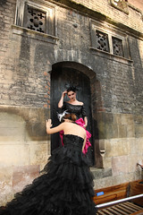 Climbing up to the door (rayand) Tags: cambridge fashion photography gothic goth location setup punting gothicbeauty