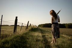 A Fine Frenzy (Jake Weber ) Tags: portrait grass lines fence nikon brooke vignette leading d40 watz