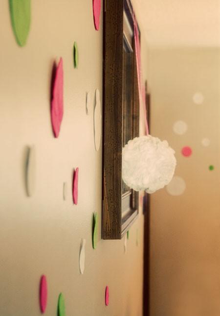 DIY fabric pom