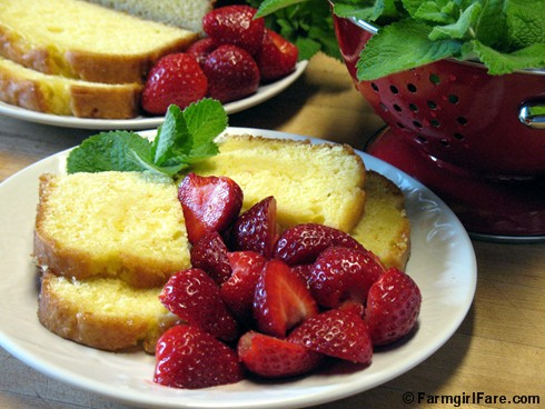 Easy Orange Loaf Cake with Garden Strawberries