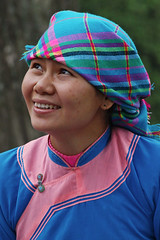 Tribal girl in Sapa. (Bertrand Linet) Tags: people festival tribal vietnam tribe ethnic sapa northvietnam vietnamfestival sapainacloudfestival bertrandlinet