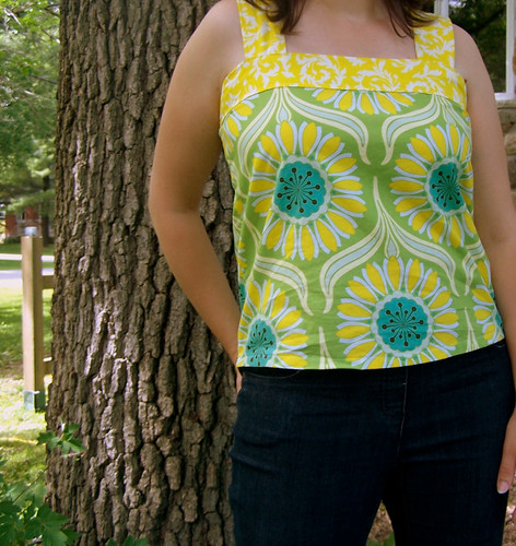 Summer Top in Heather Bailey Fabric