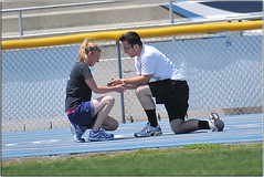She Said YES! (Extra Medium) Tags: love boyfriend girlfriend trevor candid proposal julianne fiance highschooltrack icreatecandidmomentsthewayilike boyfriendproposing 12videoviews
