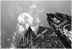 St Vitus Cathedral (Dss) Tags: city trip travel castle history church canon experiments ancient europe czech prague cathedral gothic perspectives places minster oldtown stvituscathedral hradany castledistrict particulars blackwhitephotos flickraward