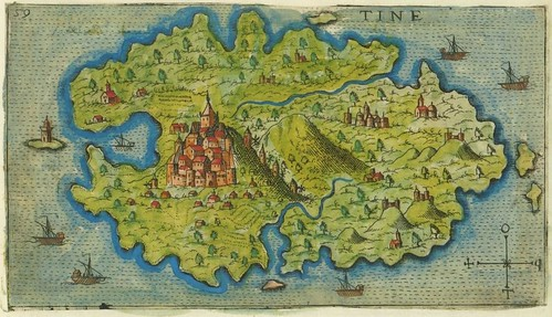 Tine - map of Tinos