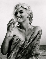 Marilyn Monroe (a.heart.17) Tags: beach smile last 60s sitting wine champagne towel 1962