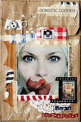 Domestic Goddess - explore  (ania-maria) Tags: vacation bag scrapbooking paper layout eyes strawberry paint kit a4 scrap ils 2010
