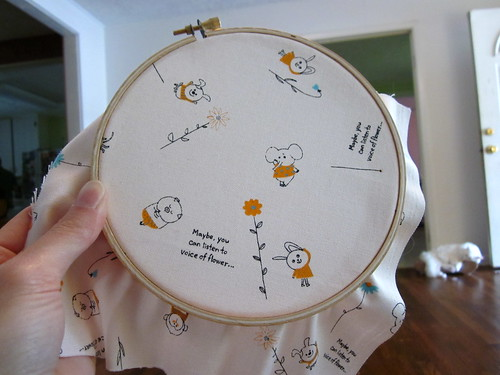 Embroidery Hoop Fabric Art 8