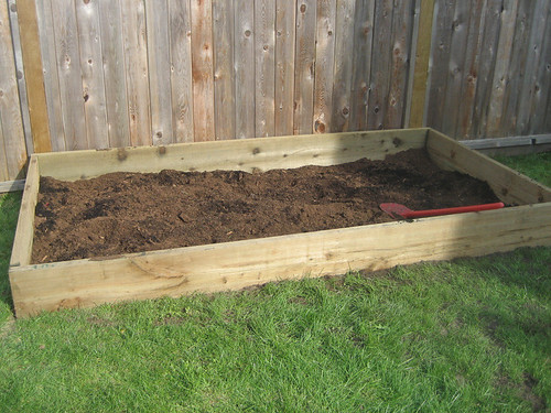 New raised garden bed