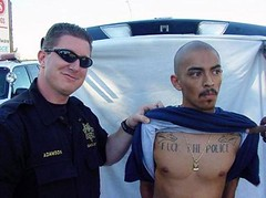 (Fr8 Fiend) Tags: tattoo pig funny fuck police cop epic suspect fail the