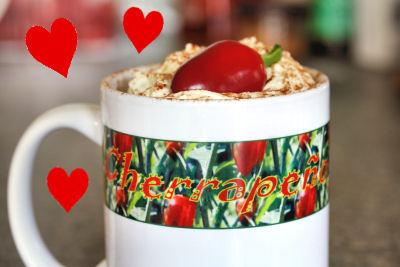 Cherrapeno mug heart  9007 R 3