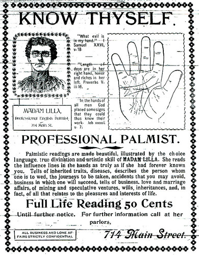 Ad for a Joplin Palm reader