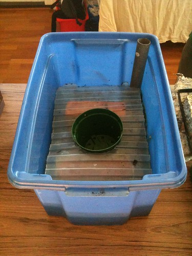 Home-made self-watering container