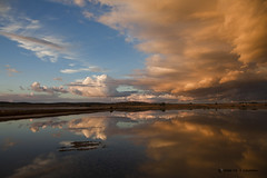 Petrola, todo un espectaculo (9º EXPLORE - 12-10-2010) (Jose Casielles) Tags: color agua paisaje explore nubes puestadesol frontpage reflejos lagunas yecla petrola fotografíasjcasielles
