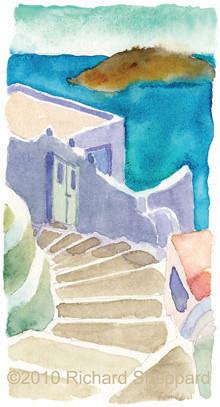 House along the Caldera, Santorini, Greece