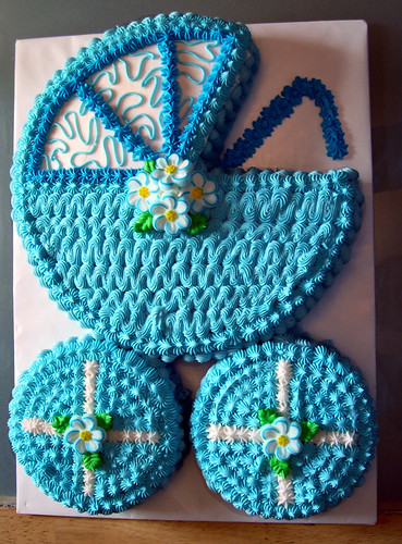 Baby Buggy Baby Shower Cake