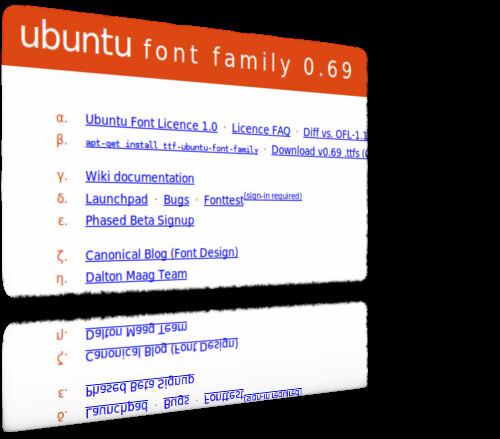 Figura 1 - Ubuntu font family.