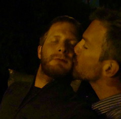 always kiss me goodnight (redjoe) Tags: hairy night dark hair outside ginger washingtondc us dc backyard kiss fuzzy sweet redhead together facialhair freckles delicate redhair tender fuzz saltandpepper redjoe joehorvath