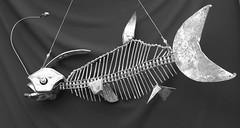 poisson (pedrobigore) Tags: sculpture chien table bateau poisson métal fer masque acier danseuse récup volant bestioles récupération soudure soudeur féraille akouma hipocamppe